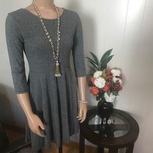 Divided  Simple Gray/Grey 3/4 Sleeve Dress